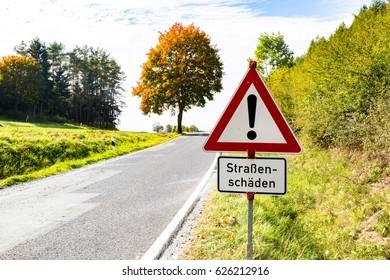 Road damage warning