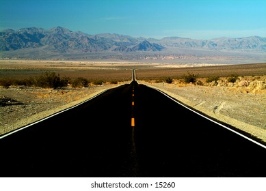 Road in Death Valley, California