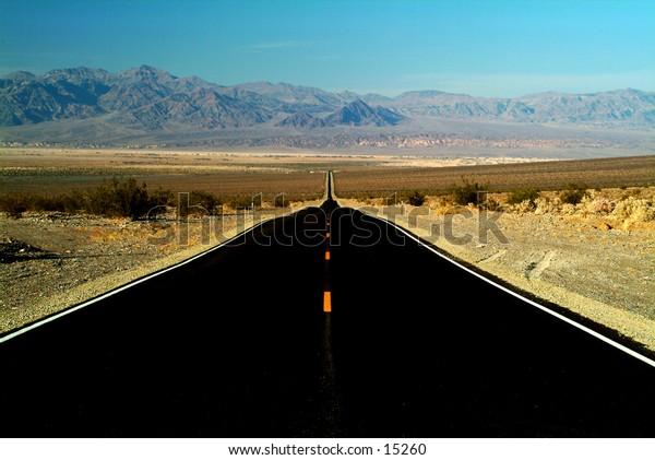 Road in Death Valley, California