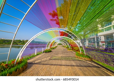 Road decorate colorful