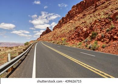 Road in the desert of Arizona