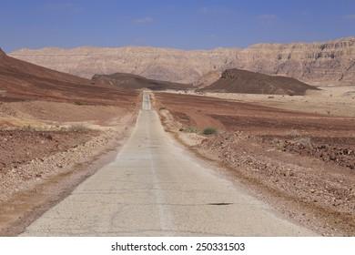 Road in the desert in Israel