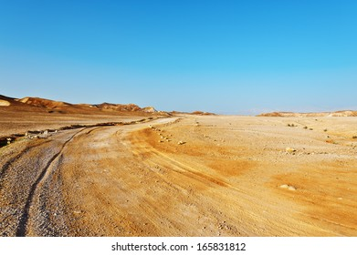Road in Desert on the West Bank of the Jordan River