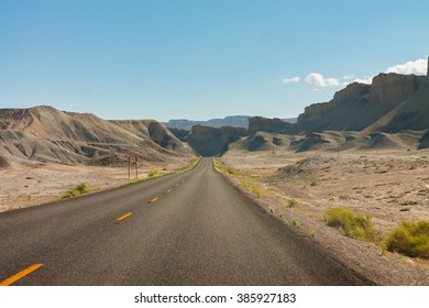 Road in the desert of the USA