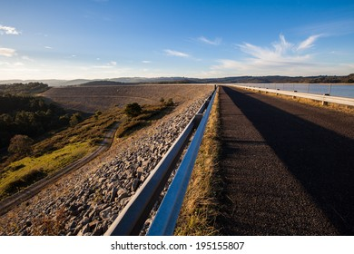 Road disappearing in the distance , at Cardinia reservoir, Melbourne, Australia