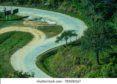 Road to Doi Pha Tang in Chiangrai Province, Thailand.