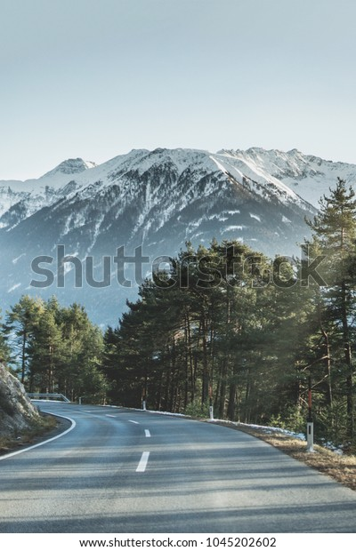 The road down the mountains in Austria.  It's very inspiring and rejuvenating seeing nature bloom again.