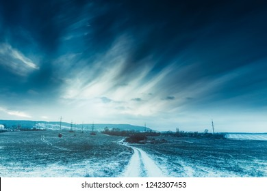 Road to the Dream. Winter landscape