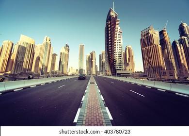 road in Dubai, United Arab Emirates