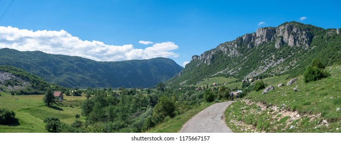 Road to Durmitor - national park in Montenegro