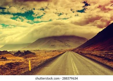 Road empty background