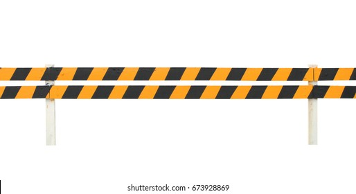 Road fence (with clipping path) isolated on white background