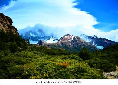 The Road to Fitz Roy, El Chalten, Patagonia, Argentina.
