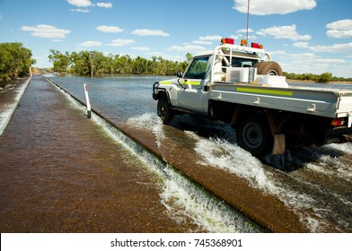 Road Flooding in the Outback