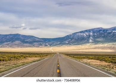Road going to Salt Lake City, Utah