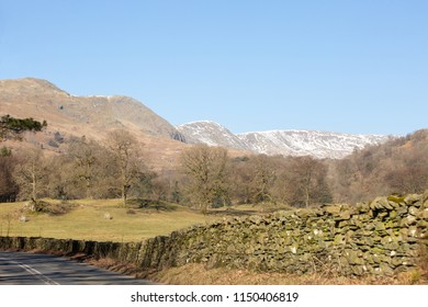 Road to Grasmere in the Lake District northern England mountain backdrop