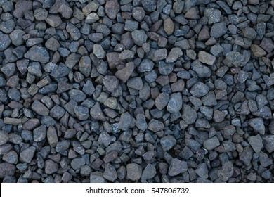 Road gravel texture. Gravel background. Stones texture. Blue gravel texture wallpaper