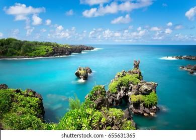 Road to Hana, Black Sand Beach, Waianapanapa State Park, Maui