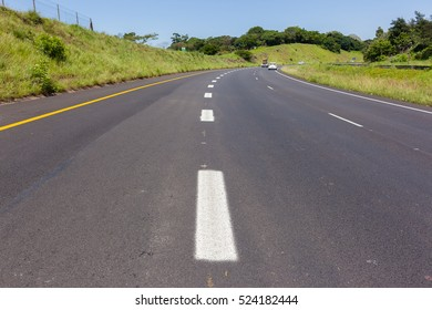 Road Highway Paint Markings Road highway painted markings for entry exit lines for vehicle traffic.