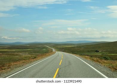 Road to Honningsvag, Norway