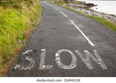 road to the horizon in Isle of Arran. Scotland