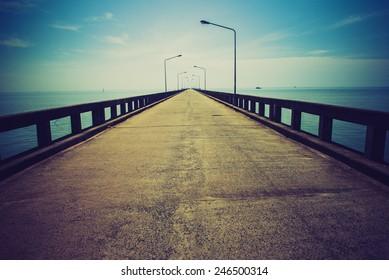 Road to horizon. LOMO effect