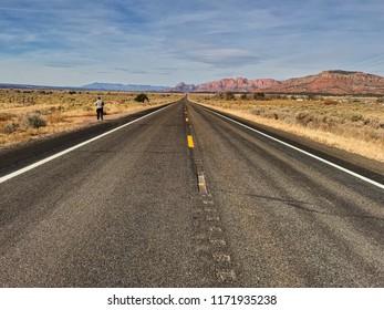 Road to the horizon. Nevada,USA