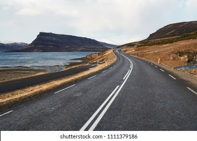 Road in Iceland, scenic views
