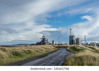 The road to industry. South Gare. Located on the north east coast of England.