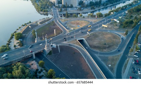 Road junction in a big city