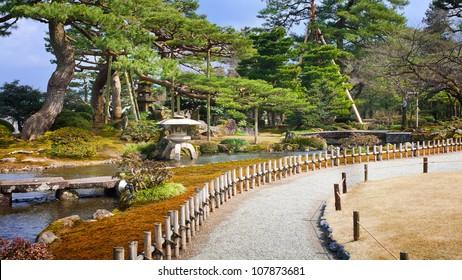 Road at Kenrokuen Garden in Kanazawa