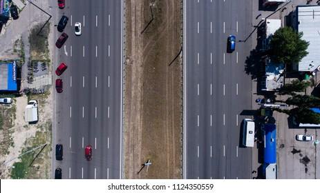 The road in Kiev, Ukarina June 2018