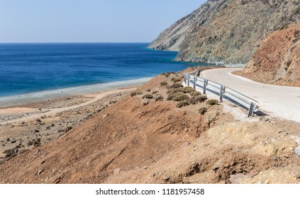Road to Kipos beach, in Samothrace island, Greece