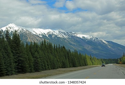 The road in Kootenay Valley - Kootenay National Park, British Columbia, Canada