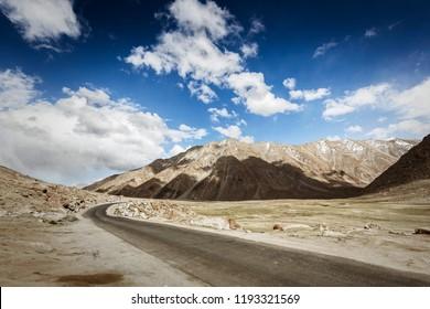 Road of ladakh near pangong