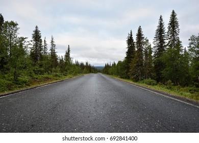 Road in Lapland, Pallastunturi, Taivaskero