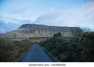 Road leading to Ben bulben mountain, Sligo, Ireland
