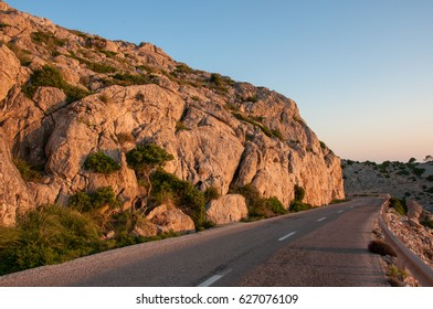 Road leading to Cape Formentor in the mountains of the island of Mallorca, Spain