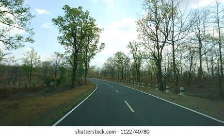 The road leading to Kanha National Park in Madhya Pradesh, India