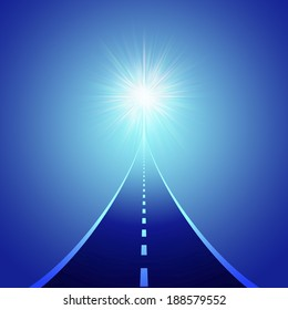 Road leading to a light