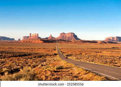 Road leading to Monument Valley