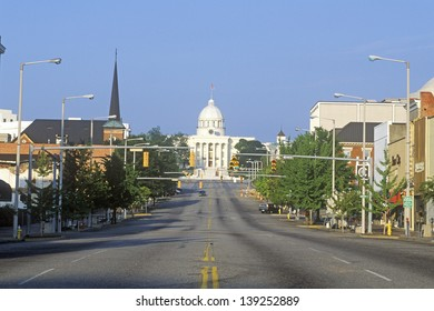 Road leading to the State Capitol of Alabama, Montgomery, Alabama