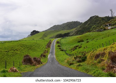 Road leading to White Cliffs Walkway in New Plymouth, New Zealand