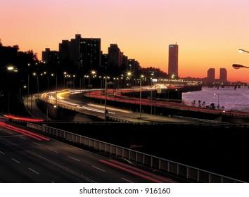 Road Light at Night