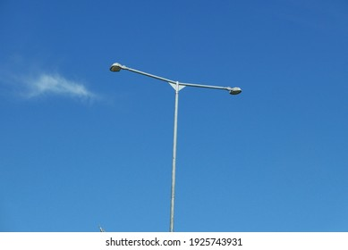 Road lights with blue sky background