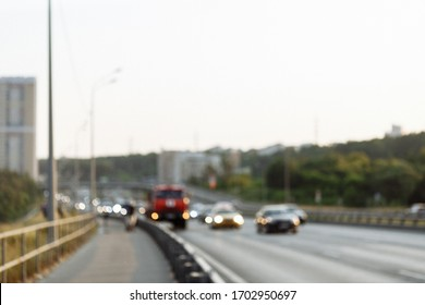 road, lights, blurred autobahn  background cityscape