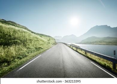 road, Lofoten islands, Norway