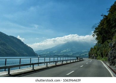 Road to Luzern in Switzerland