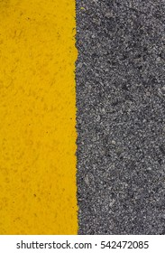 Road maintenance and repair works carried out by contractor appointed by the local municipal / Road maintenance / Painting of re-surfaced road and humps with hazard warning stripes