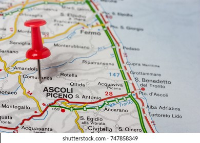Road Map City Pesaro Italy Stock Photo Royalty Free 747852844